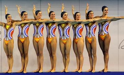 Spanish synchronized swimming team