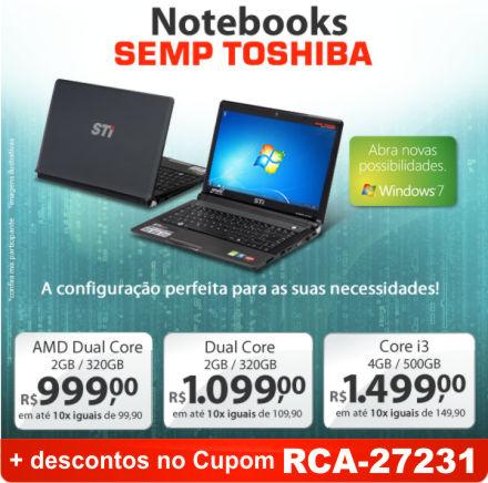 Cupom Efácil - Notebooks Semp Toshiba