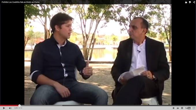 """Reginaldo Pinho """"frente a frente"""" com o prefeito Léo Coutinho em entrevista sobre suas ações, confira o Vídeo:"""