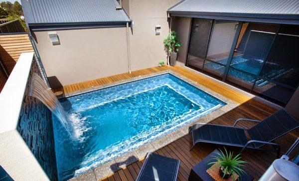 Patios con piscina - Piscinas alargadas y estrechas ...