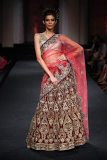 Bridal Embroidered Lehenga Saree