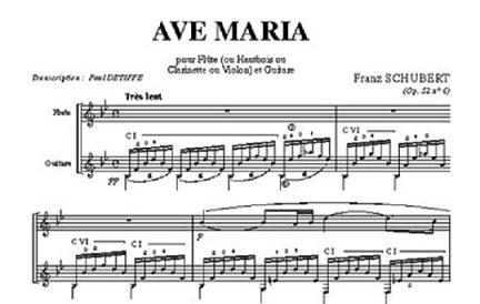 Partitura ave maria schubert