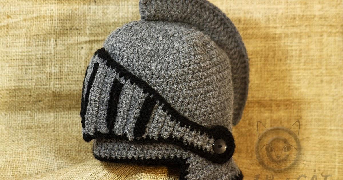 Bad Hat Cat Medieval Hat Crochet Knight Helmet Hat With Adjustable