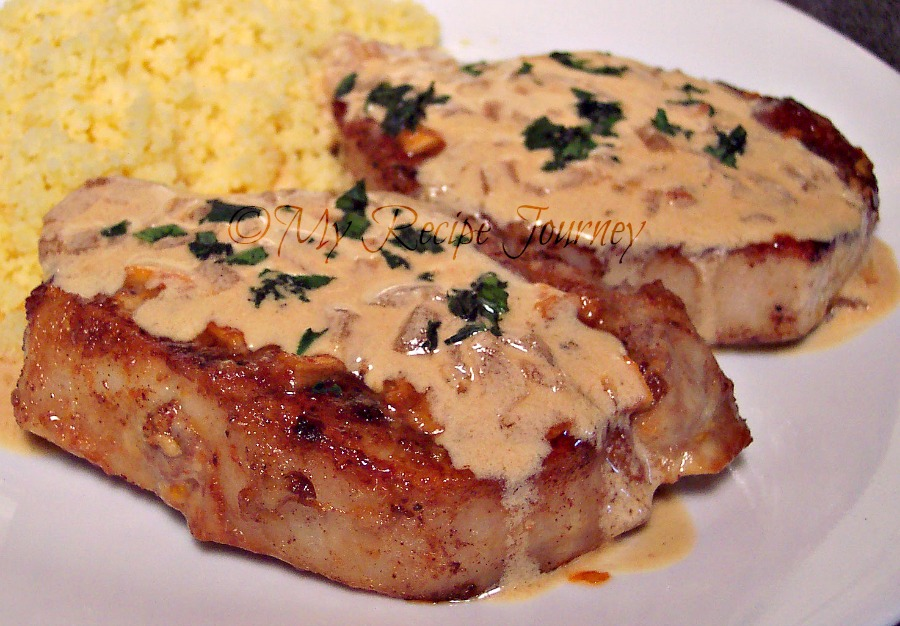 My Recipe Journey: Island Pork Chops with White Wine Cream Sauce