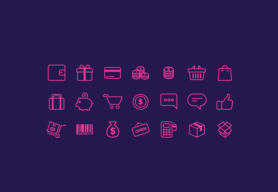 E Commerce Icon PSD