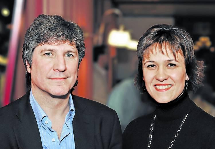 Katya Daura y Amado Boudou