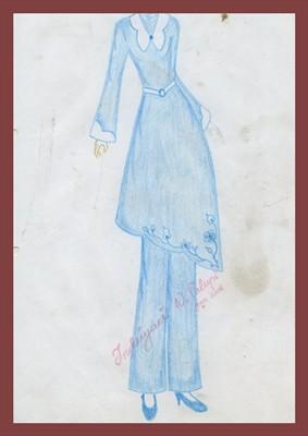 desain busana muslim sketsa