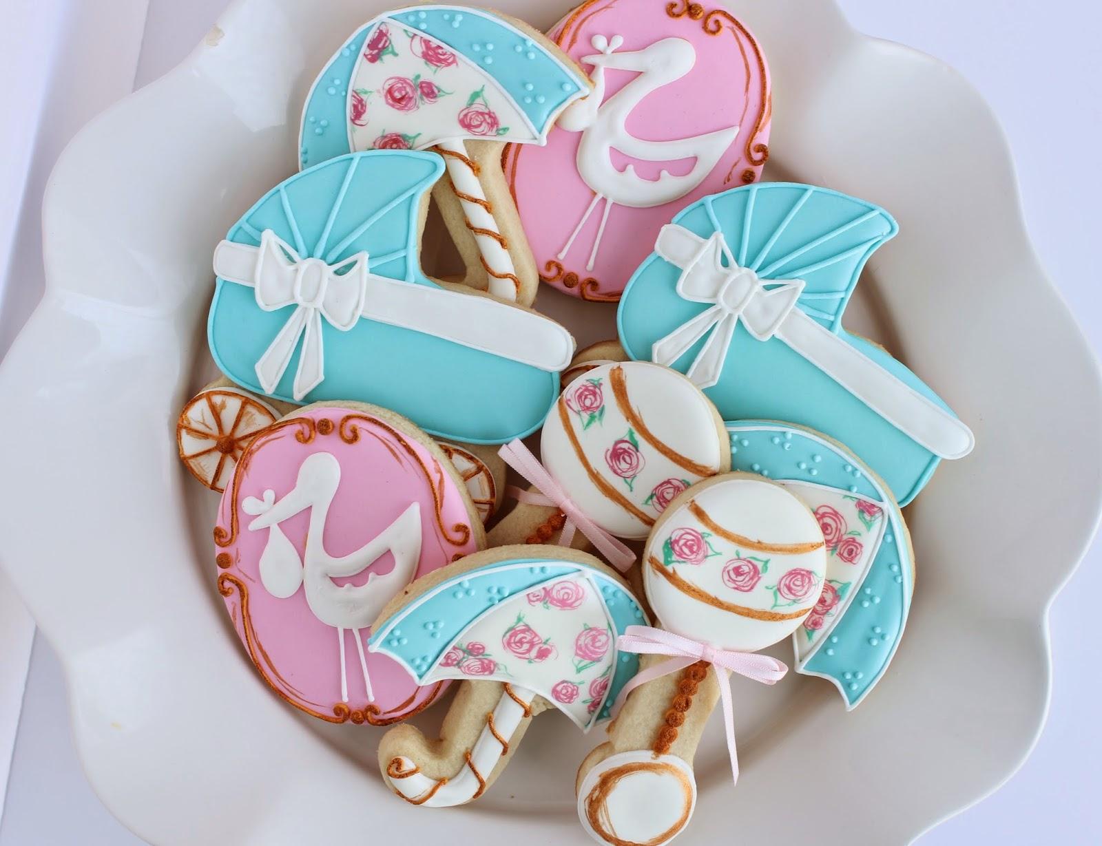 Sugar Bea s Blog Baby Shower Cookies girl