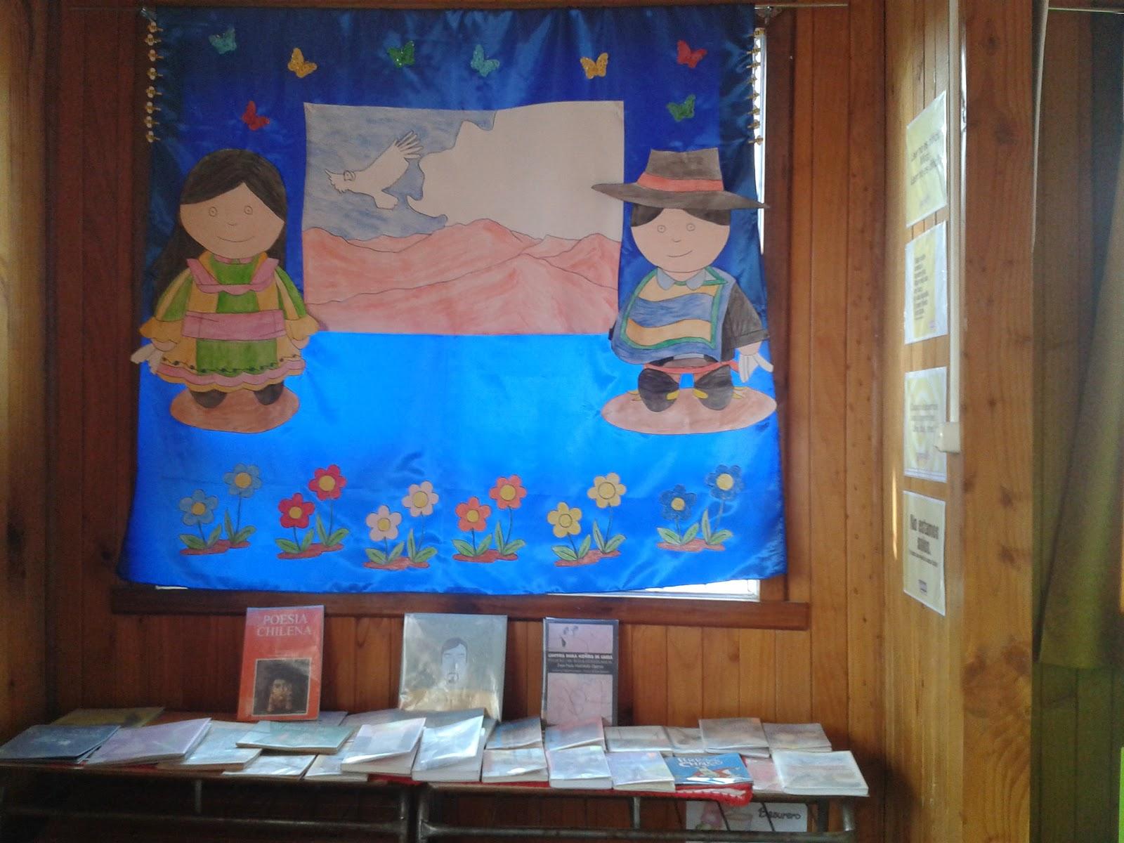 Experiencias de una bibliotecaria rinc n de septiembre for Diario mural fiestas patrias chile