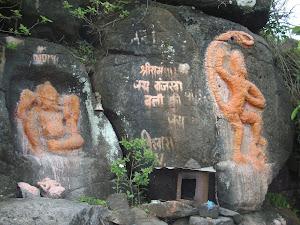 """""""Bajrangbali Temple"""" enroute  to Prabalmachi village."""