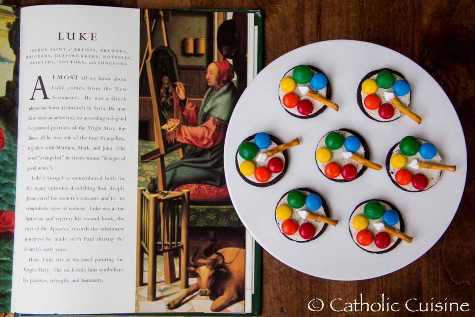 catholic cuisine: st. luke's artist palette cookies