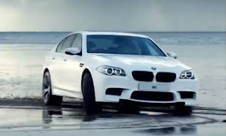 BMW M5 on the beach for the London 2012 Olympic