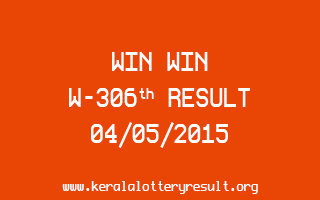WIN WIN W 306 Lottery Result 4-5-2015