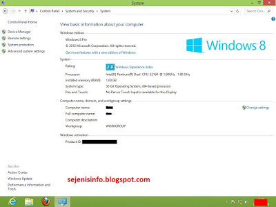 versi windows 8