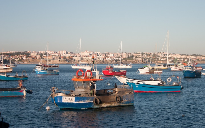 fishing boats on Estoril Coast