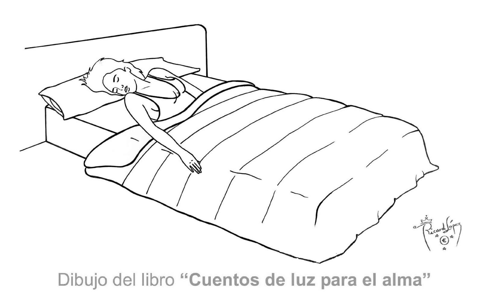 Dibujos para colorear de ninas durmiendo sketch coloring page for Cama para colorear