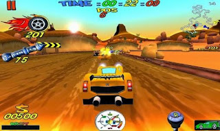 Screenshots of the Cartoon racing for Android tablet, phone.