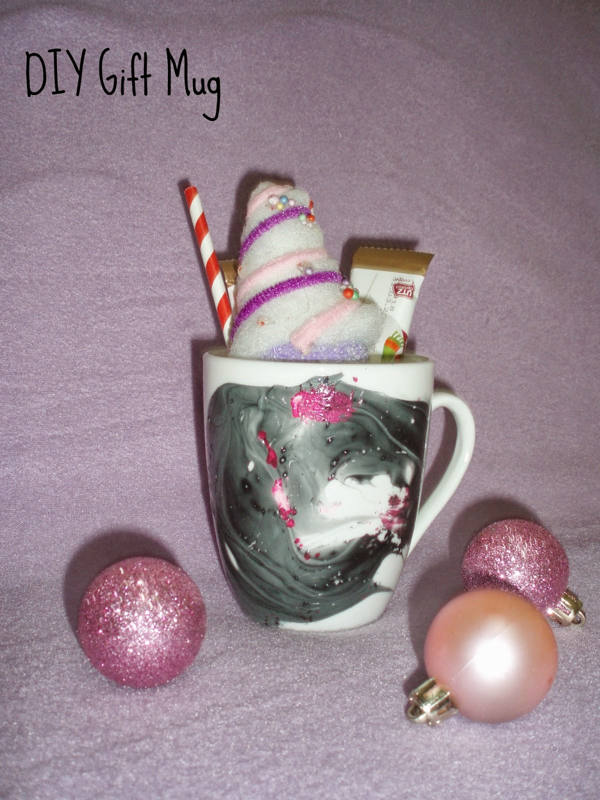 DIY Watercolor gift Mug κούπα με εφε νερομπογιας