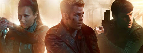 Star Trek Into Darkness starring Zoe Saldana, Chris Pine and Zachary Quinto