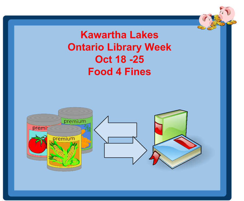 Kawartha Lakes Libraries offer food for fines annual program until October 25