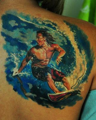 Den Yakovlev Surf Surfist Tattoo
