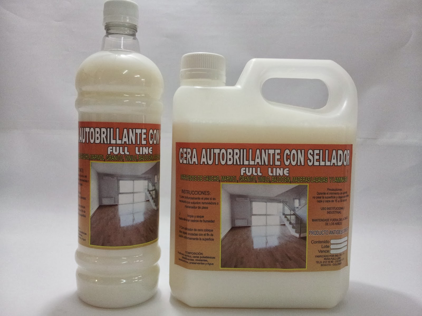 Cera auto brillante con sellador ideal para pisos de for Cera para pisos de marmol