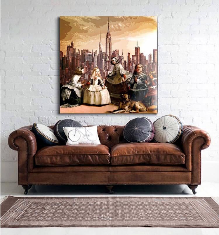 Sensaciones de hogar cuadros y decoracion estilo industrial for Cuadros decorativos clasicos