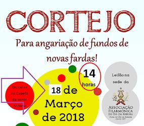 CORTEJO DA TUNA / FILARMÓNICA ADIADO PARA 18 DE MARÇO