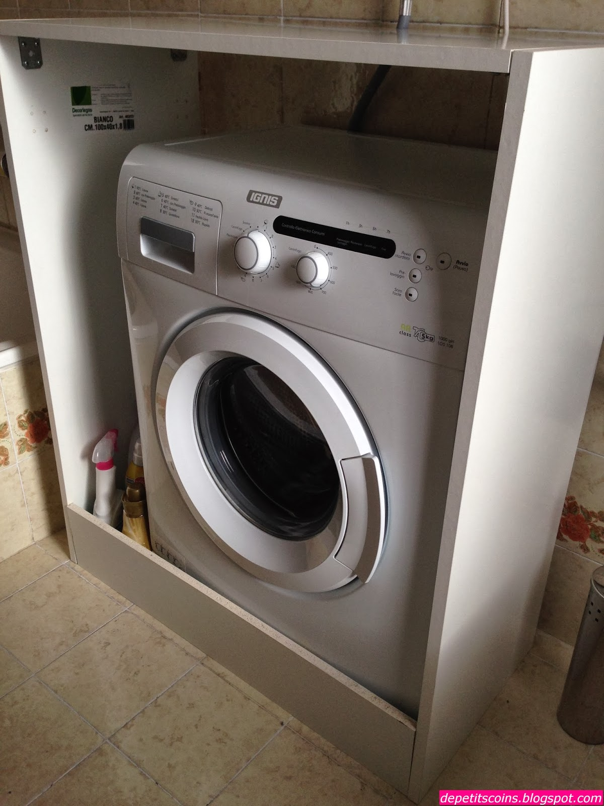 De petits coins mobile copri lavatrice - Come invecchiare un mobile ...