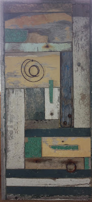 Reclaimed wood assemblage Beach Quilt Margaret Ryall