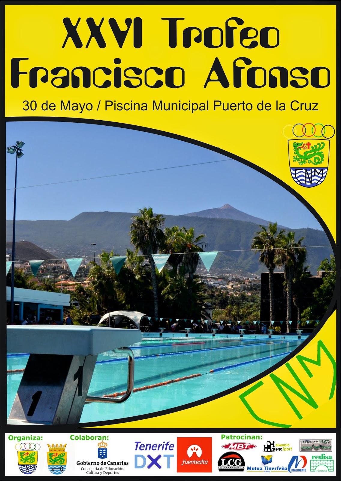 Ntc natacion canaria xxvi trofeo francisco afonso for Piscina municipal puerto de la cruz