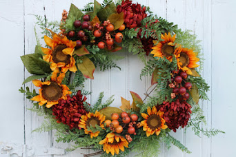Rustic Sunflower Wreath