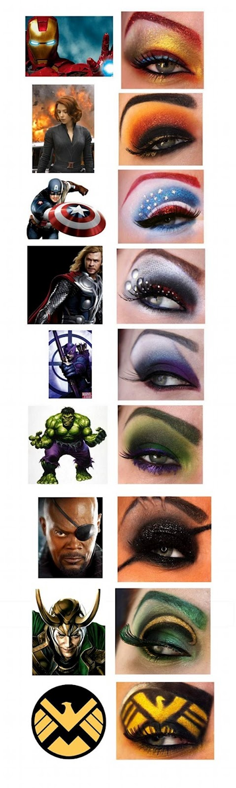 Eye Makeup from the Avengers