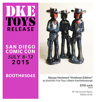 "San Diego Comic-Con 2015 Exclusive ""Heirloom Edition"" Django Uncloned Star Wars Ceramic Figure by Good For Your Toys x Robin VanValkenburgh"
