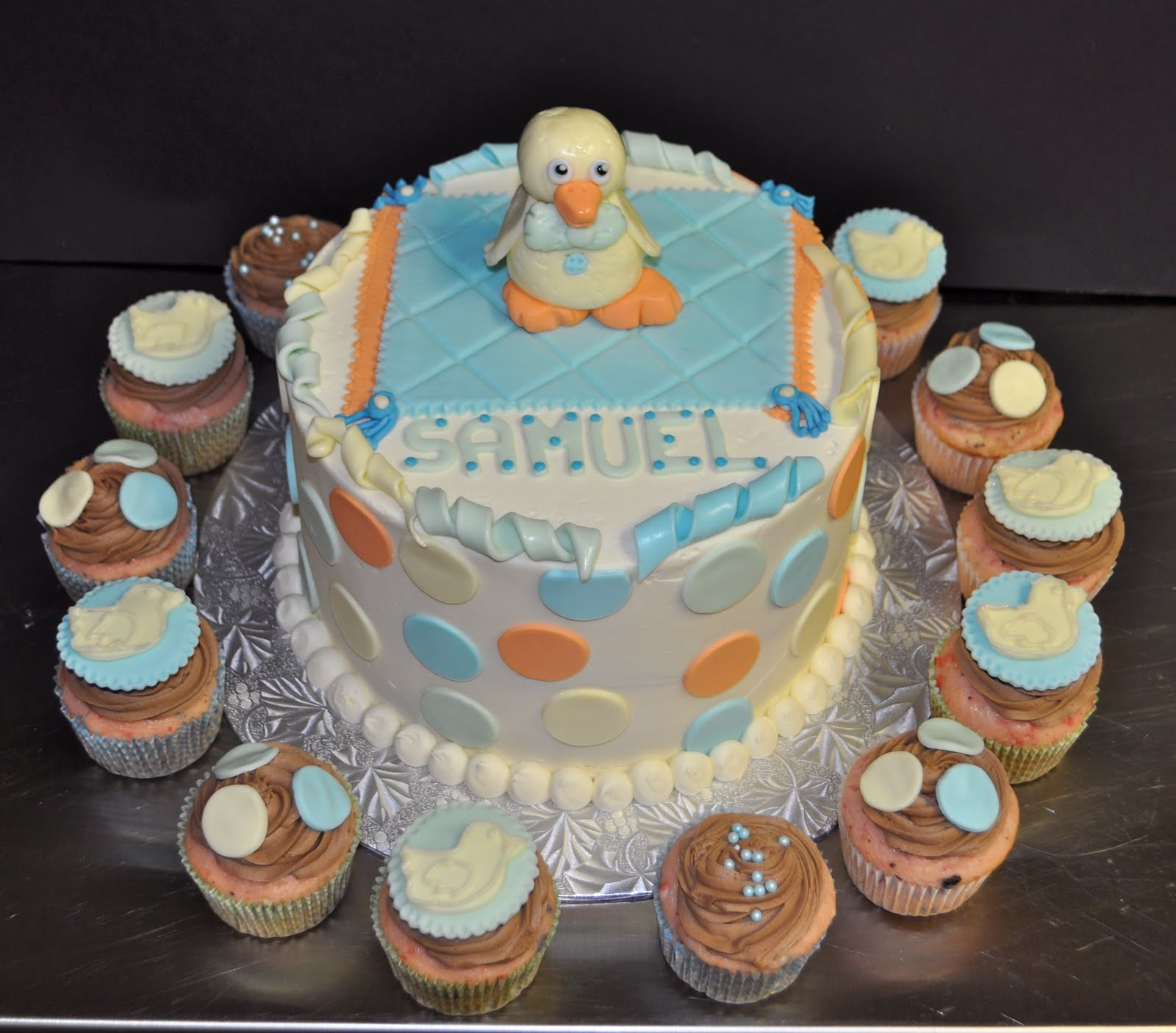 Leah s Sweet Treats Baby Duck Baby Shower Cake & Cupcakes