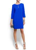 mango mavi elbise modeli