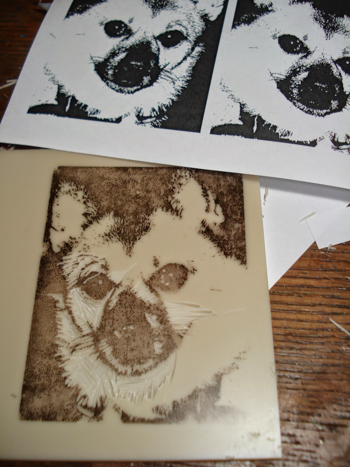 Fyi making transfers for lino blocks stamp carving . my stuff