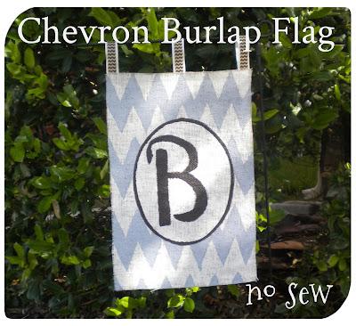 Daisies Stars Diy Chevron Burlap Flag