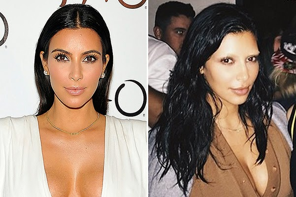 Kim Kardashian bleached eyebrows