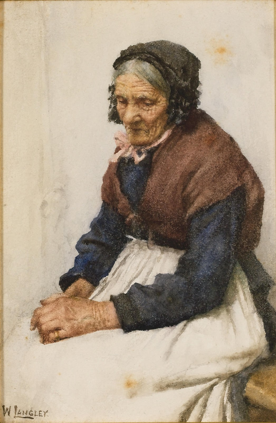 Walter Langley Old fishwife