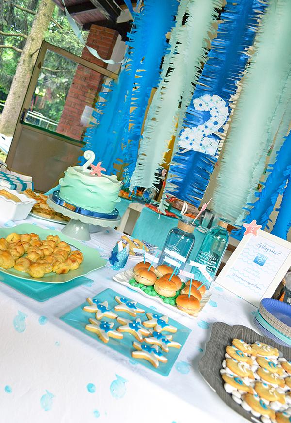 il tavolo dei dolci tutto a tema creature marine