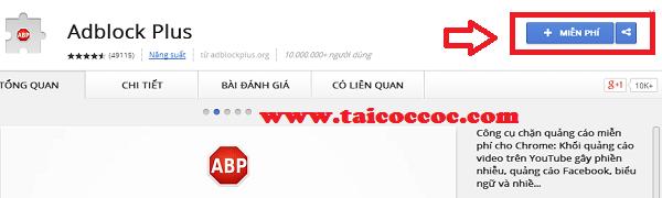Chặn quảng cáo trên trình duyệt web Cốc Cốc