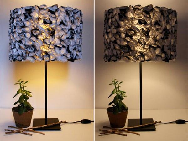 warna dalam rumah anda ruffled black and white lamp shade