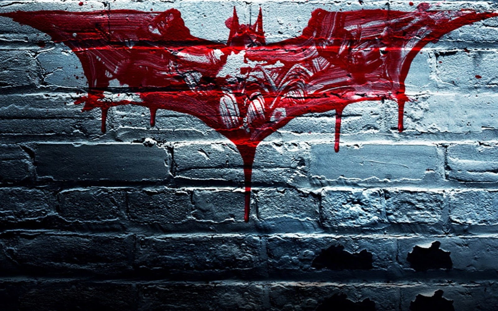 Blue Bloods Logo Blood Bat Splatter Batman Logo