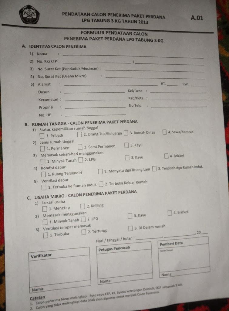 cara mendaftar program konversi gas lpg