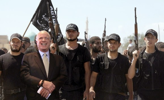 John McCain yukking it up with ISIS