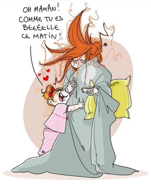 ilustracion mama enferma