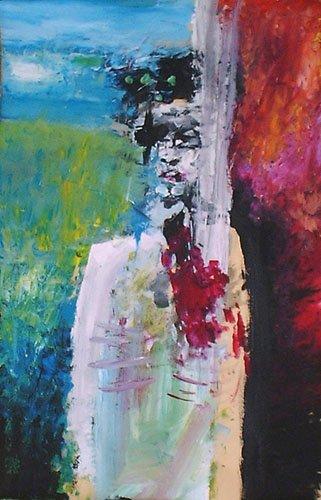 autoritratto sofferenza pittura orme magiche quadro disegno pittura spirituale arte zen