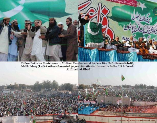 lashkar e jhangvi malik ishaq was in attendance at the difa e pakistan