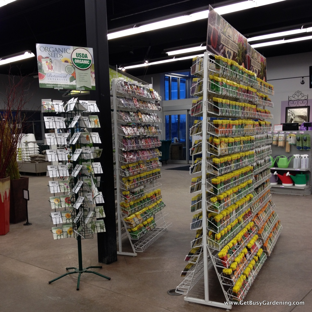 Seed displays are everywhere this time of year
